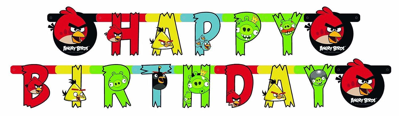 Riethmuller Festone Happy Birthday Angry Birds