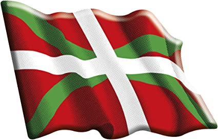 Amazon.es: Artimagen Pegatina Bandera Ondeante Euskadi Resina 60x50 mm.