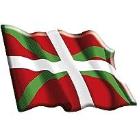 Artimagen Pegatina Bandera Ondeante Euskadi Resina 60x50 mm.