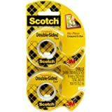 Scotch Double Sided Tape, Permanent, 1/2 in x 400 in, 2 Dispensers/Pack (137DM-2)