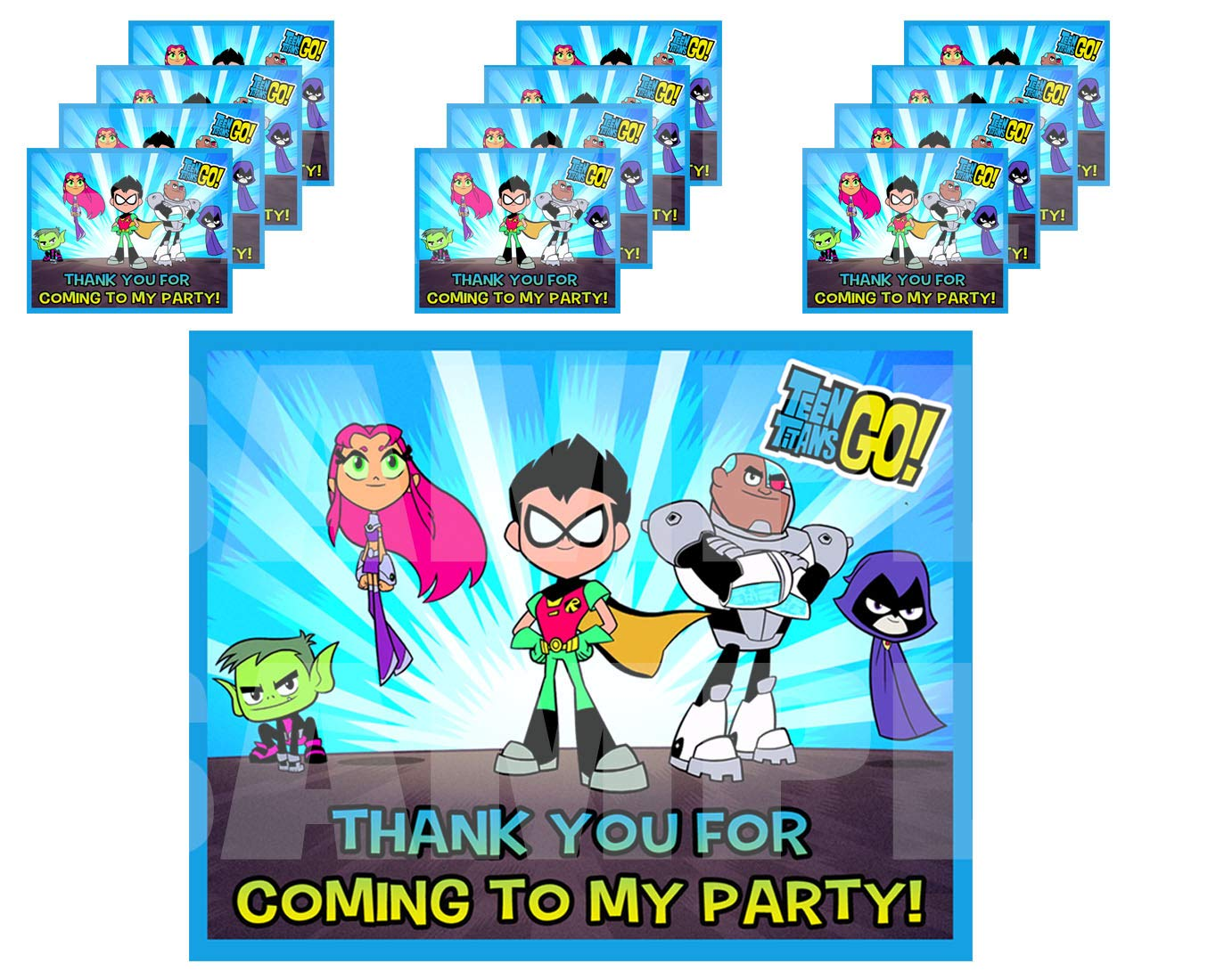 Teen Titans GO Stickers Party Favors Supplies Decorations Gift Bag Label  Stickers ONLY 3.75