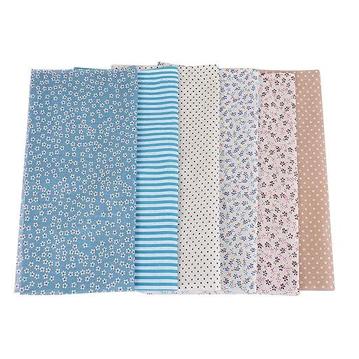 Souarts azul 7 hojas tela paquetes acolchar costura ...