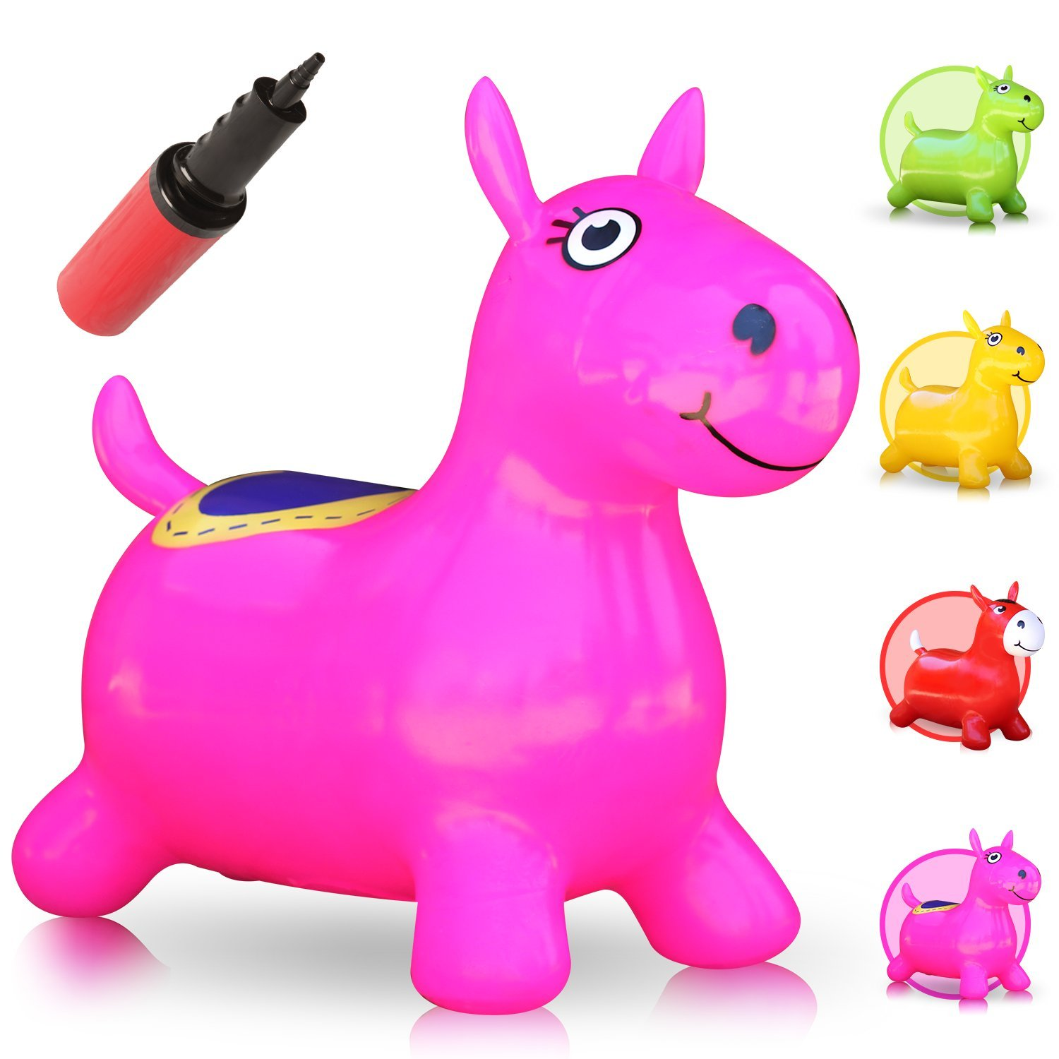 WALIKI Hopping Horse Hopper (Johnny the Bouncy Horse, ridding Horse for kids, pump included pink)