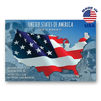 cd9353a6e773 Image Unavailable. Image not available for. Color  UNITED STATES FLAG  postcard set of 20 identical postcards. American state flag post cards.