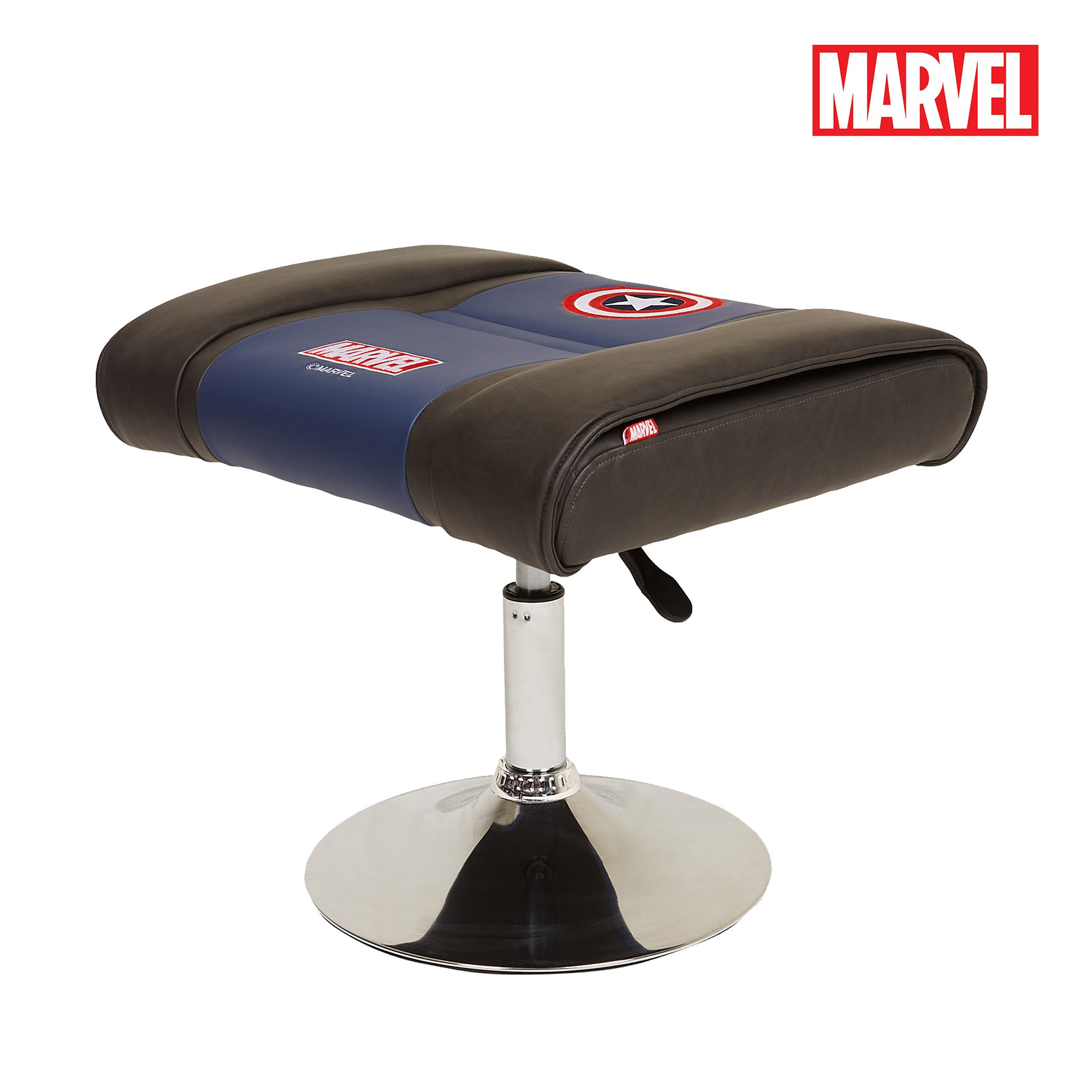 Neo Chair Licensed Marvel Premium Ottoman Foot Rest Seat Stool Makeup Chair : Height Adjustable Office Home Furniture Premium PU Leather, (Captain America, Blue) by Neo Chair