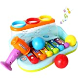 GoStock Music Toys Xilófono Musical para Niños de 1 2 3 Años Teclado Musical para Niños y Niñas