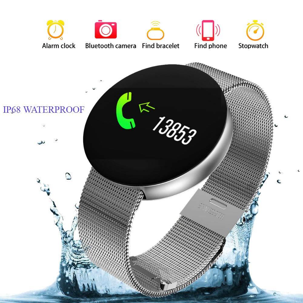 Reloj Inteligente Hombre Smartwatch Reloj Mujer Deportivo Pulsera de Actividad Inteligente Ip68,Fitness Tracker Bluetooth 4.4 Reloj Smartwatch Hombre ...