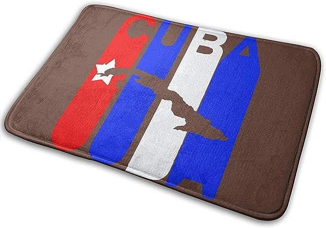 Alfombra exterior antideslizante, tapete de puerta de baño de oficina de jardín decorativo con alfombra de piso antideslizante para interiores y exteriores Tapetes de alfombras de Cuba Vintage para em: Amazon.es: Hogar