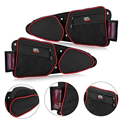 RZR Side Door Bags, KEMiMOTO UTV Front Door Side Storage Bag Set with Knee Pad for 2014 2015 2016 2020 2020 2020 Polaris RZR XP Turbo Turbo S 1000 S900(See Video for Instruction): Automotive