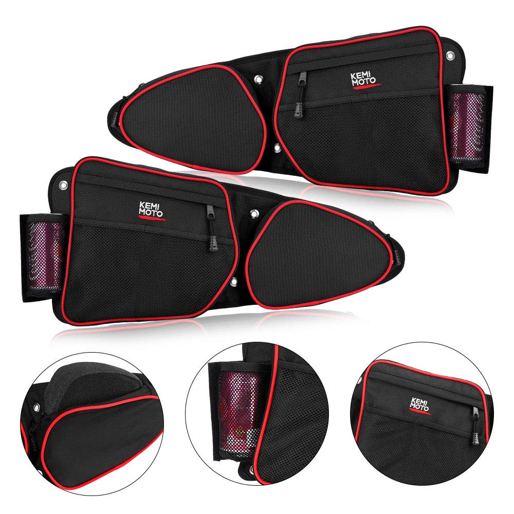 【2019 Upgraded】RZR Side Door Bags, KEMiMOTO UTV Front Door Side Storage Bag Set with Knee Pad for 2014 2015 2016 2017 2018 2019 Polaris RZR XP Turbo Turbo S 1000 S900(See Video for Instruction) 71C5MntEJhL