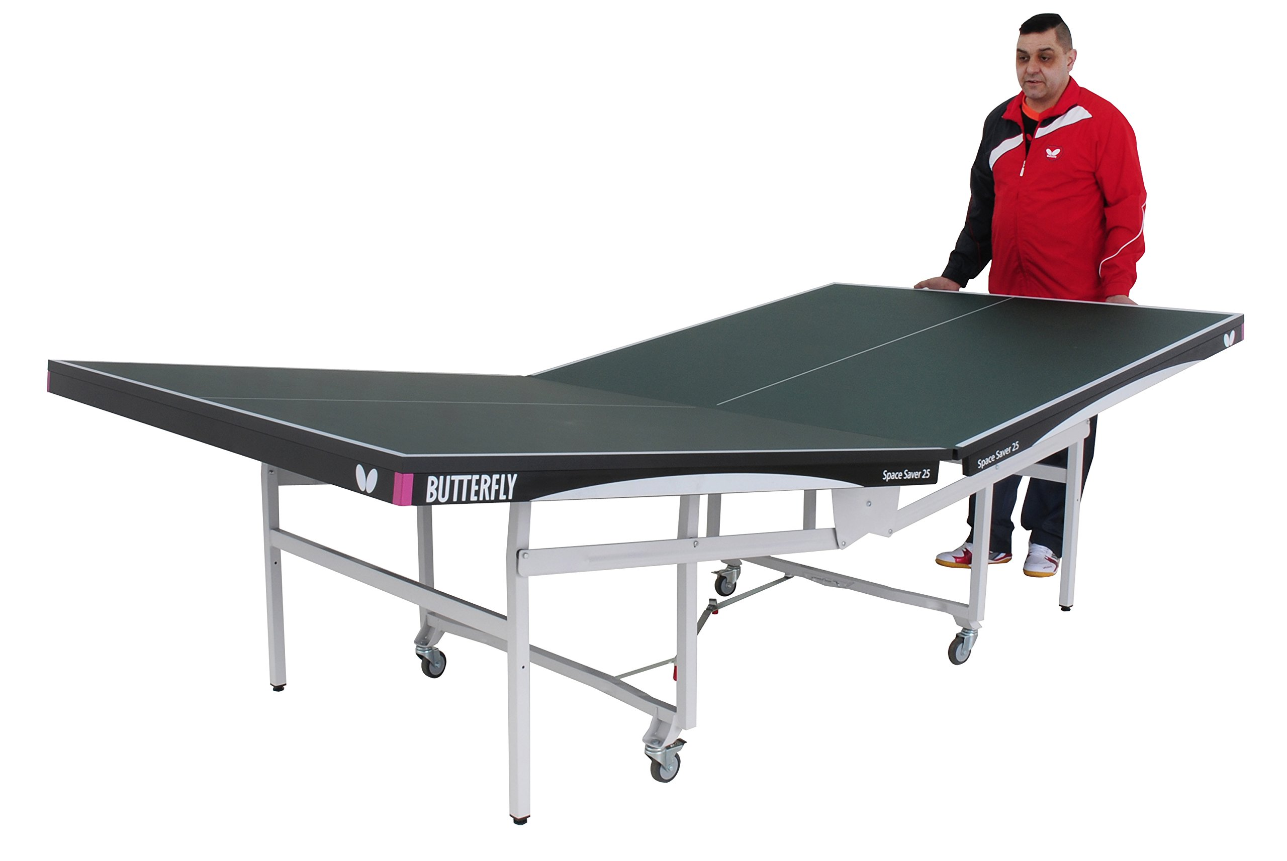 Butterfly Space Saver 22 Rollaway Table Tennis Table by Butterfly