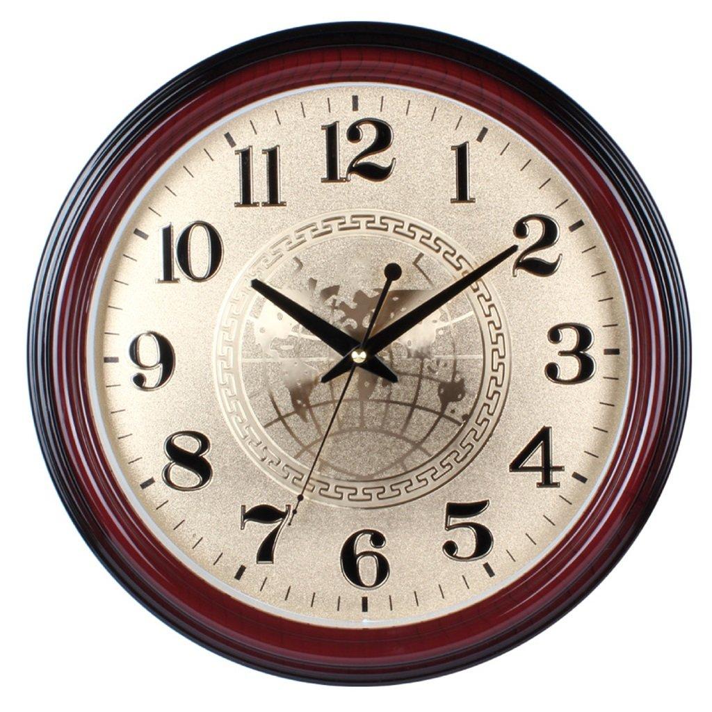 掛け時計 ウォールクロック15インチクリエイティブリビングルームミュートウォールクロッククラシックホームデコレーションクォーツ時計クロック Rollsnownow B07BKZCNC7