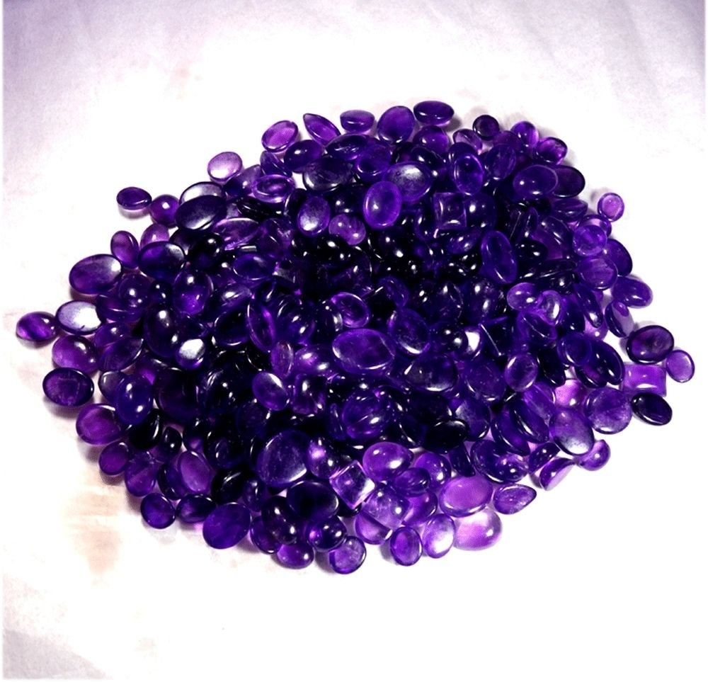 1001CTS. WHOLESALE LOT NATURAL AMETHYEST MIX MM CABOCHON GEMSTONE by Handmade (Image #2)