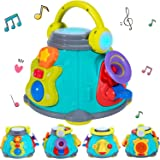 iPlay, iLearn Baby Music Activity Cube Play Center, Kids Karaoke Singing Sensory Toys, Lights Sounds, Guitar Drum Microphone
