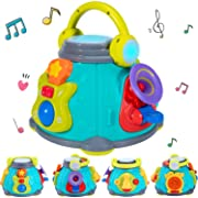 iPlay, iLearn Baby Music Activity Cube Play Center, Kids Musical Singing Sensory Toys, Lights 'n Sounds, Educational Rhyme Gift for 9, 12, 18 Months, 1, 2, 3 Year Olds, Infants, Toddlers, Girls, Boys