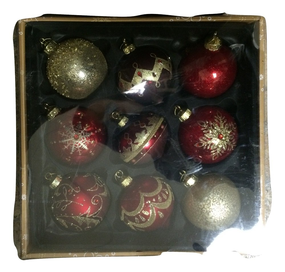 Amazon.com: Kirkland Signature 9pc Handmade Glass Christmas ...