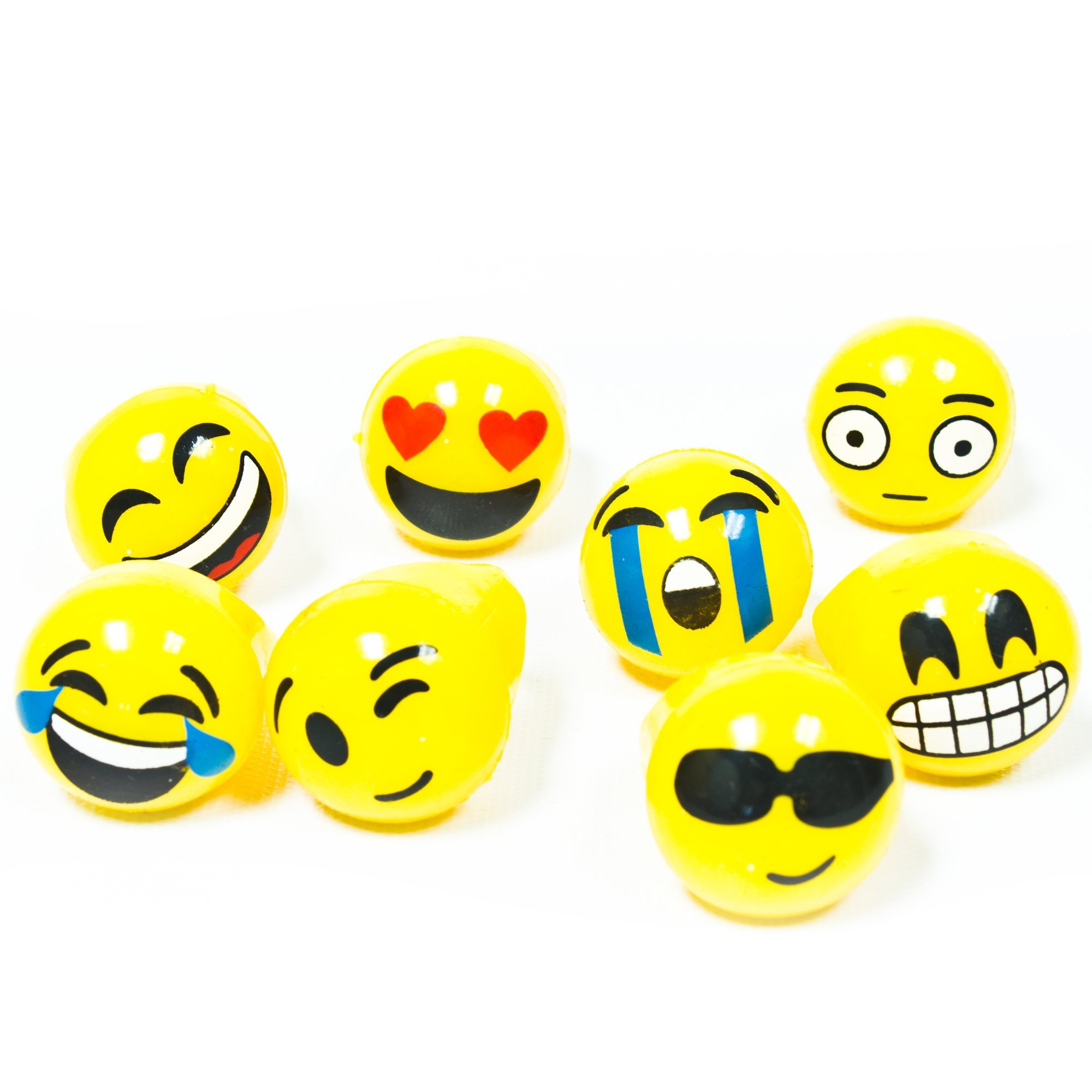 Fun Central 24 Pack - LED Jelly Emoji Rings - Flashing Emoji Party Supplies and Decorations - 8 Designs by Fun Central