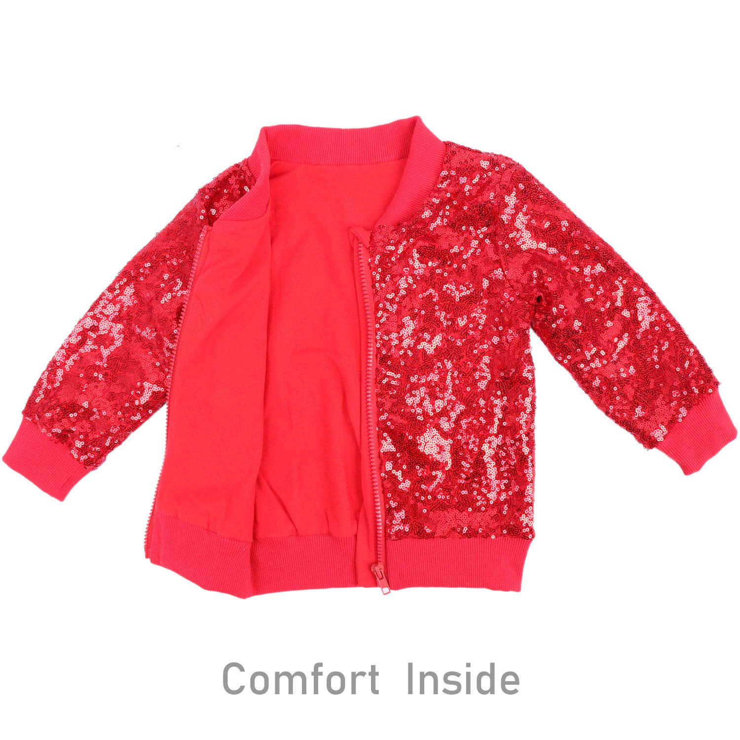 ec43a5cee Cilucu Kids Jackets Girls Boys Sequin Zipper Coat Jacket for Toddler  Birthday Christmas Clothes