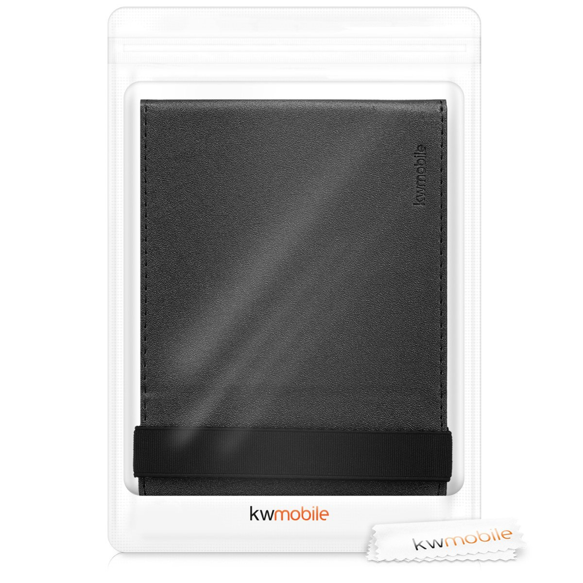 kwmobile Cover for Tolino Vision 1/2 / 3/4 HD - Case with Built-in Hand Strap and Stand in Black by kwmobile (Image #8)