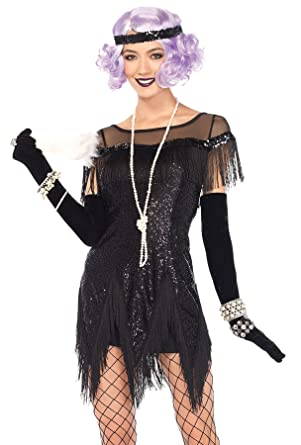 9665d8b5364 Amazon.com  UHC Women s Flapper Foxtrot Flirt Sequin Dress Theme Party  Halloween Costume  Clothing