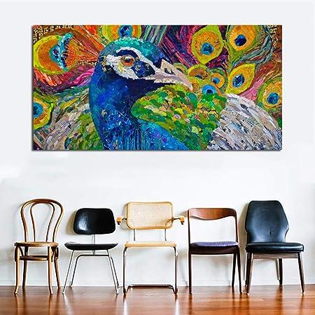 NIMCG Moda Arte Abstracto Animal Pintura Pop Art Lienzo ...