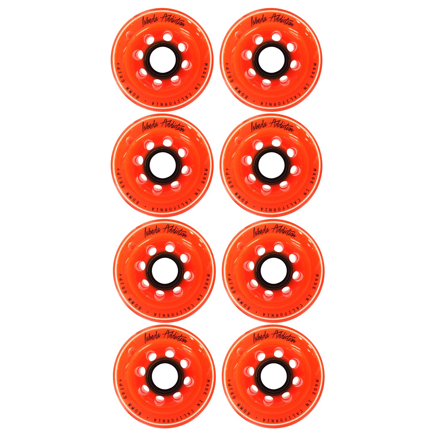 Labeda Inline Roller Hockey Skate Wheels Addiction Orange 76mm SET OF 8 by Labeda