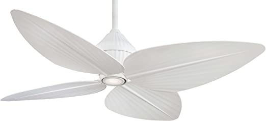 Minka aire f581 whf gauguin 52 outdoor ceiling fan with light minka aire f581 whf gauguin 52 outdoor ceiling fan with light wall control flat white amazon aloadofball Images