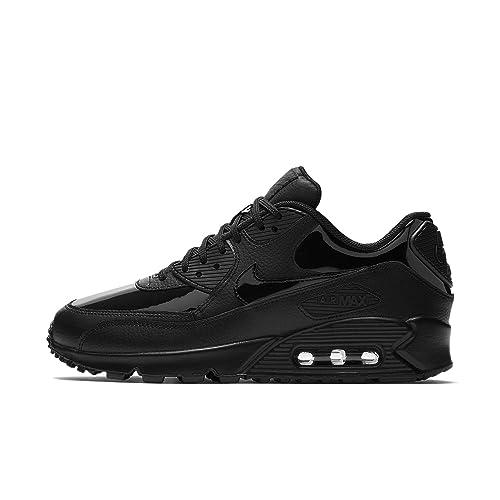 Nike Wmns Air MAX 90 Lea, Zapatillas de Trail Running para Mujer, Negro Black 002, 44 1/3 EU: Amazon.es: Zapatos y complementos
