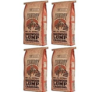 Cowboy 24220 Lump Charcoal, 20-Pound 4 Pack