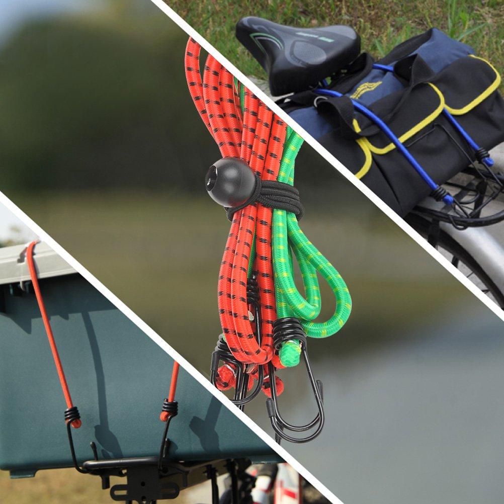 Bicicletta TIMESETL 23 pezzi Gomma corda con gancio Supporta Max 60KG resistente trasporto elastico di polpo per auto//Motocicletta