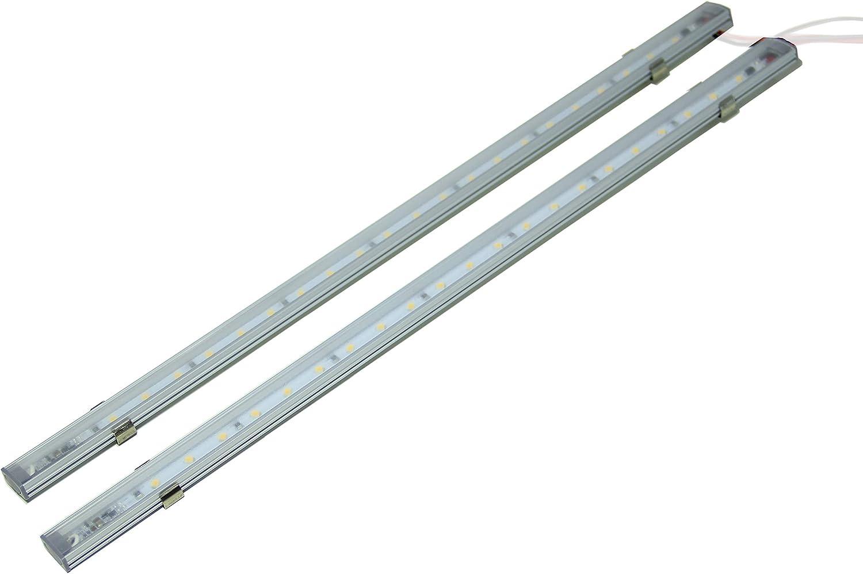 LIGHTEU, 2x de luz lineal, 12V 5W, interruptor táctil LED, cabina, armario bajo, Pared de luz de tira, por barco, yate, y de caravanas, autocaravanas, autocaravanas, autocaravanas,