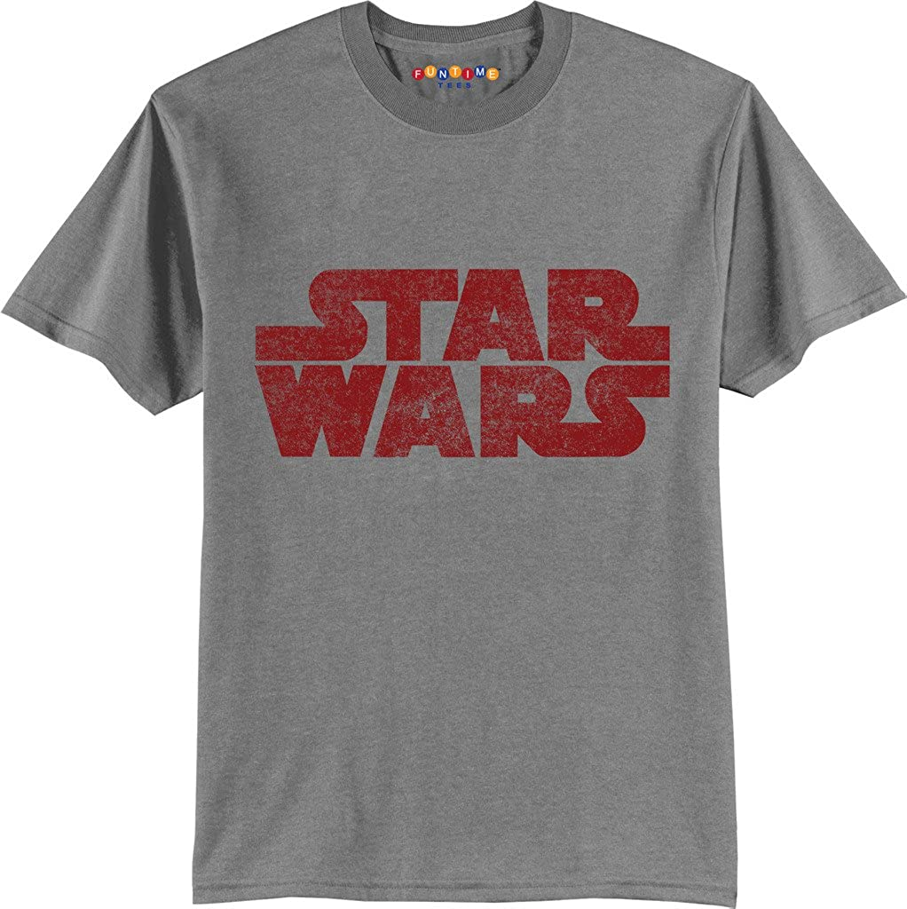 7bdd504beed FUNTIME TEES IS A REGISTERED TRADEMARK COMPANY STAR WARS SIMPLE LOGO SHORT  SLEEVE COTTON CREW NECK T-SHIRT PRESHRUNK MACHINE WASHABLE-BEST TO WASH  INSIDE ...
