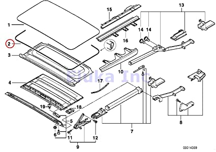 Amazon Com Bmw Genuine Sun Sliding Roof Sunroof Seal 2883 Mm