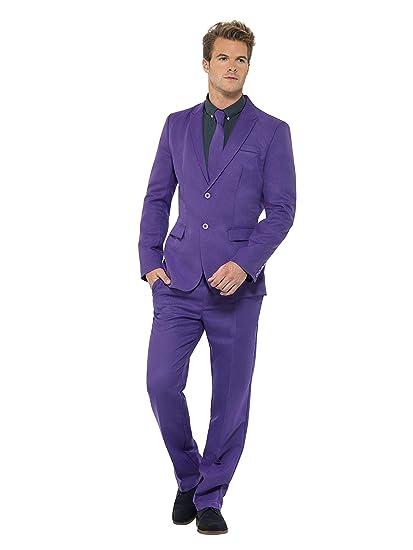 SmiffyS 43527M Traje Morado Con Chaqueta, Pantalones Y Corbata , Púrpura, M - Tamaño 38