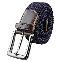 Shanxing Elástico Trenzado Cuero Hebilla Cinturón para Hombres y las Señoras