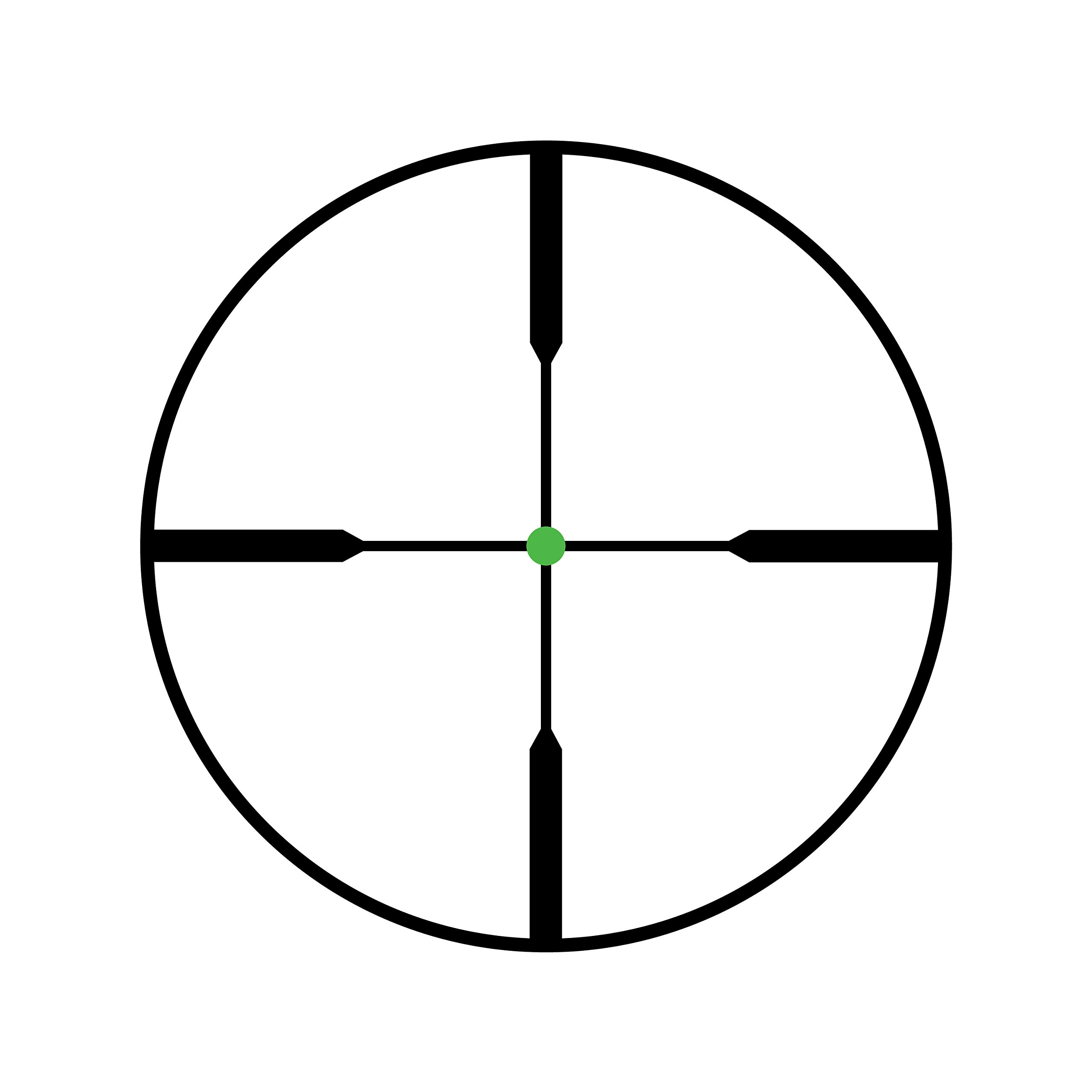 Trijicon TR22-1G AccuPoint 2.5-10x56mm Riflescope, 30mm Main Tube, Standard Duplex Crosshair Reticle with Green Dot, Matte Black by Trijicon