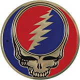Grateful Dead Steal Your Face SYF on Gold Metal Sticker / Decal