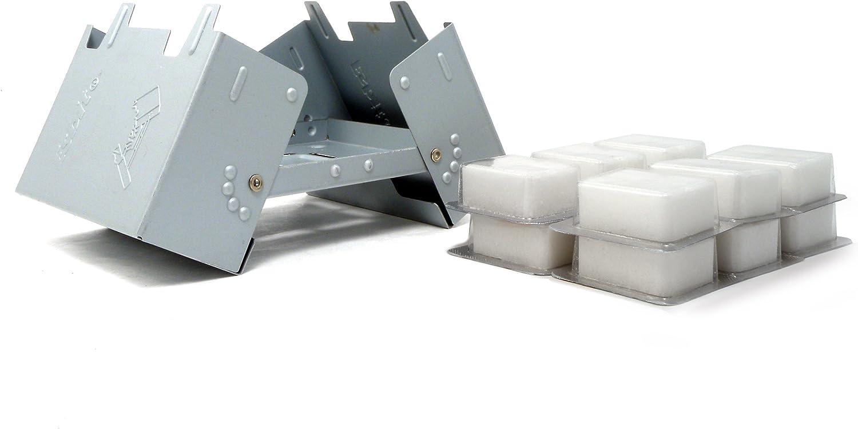 Esbit Large Ultralight Folding Pocket Stove with 12 14gm Solid Fuel Tablets
