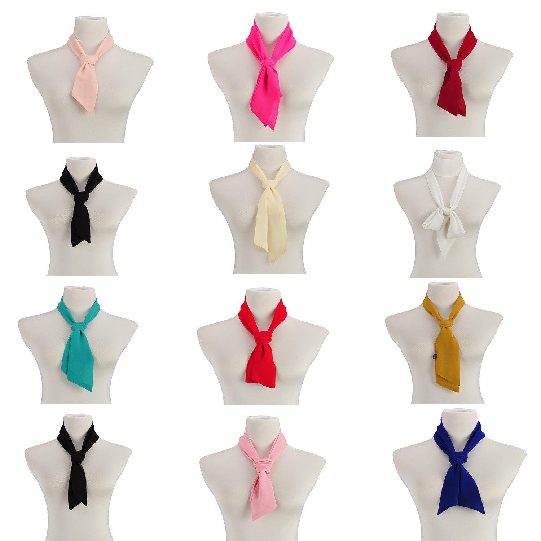 Pop Ladies Girl Printing Long Thin Slim Scarf Ribbon Belt Sash Skinny Necktie Gift
