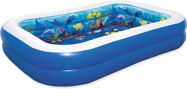 Bestway 54177 - Piscina Hinchable Infantil 2 Gafas 3D y Tesoro Undersea Adventure 262x175x51 cm: Amazon.es: Jardín