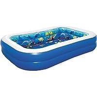 Bestway 54177 - Piscina Hinchable Infantil 2 Gafas 3D y Tesoro Undersea Adventure 262x175x51 cm