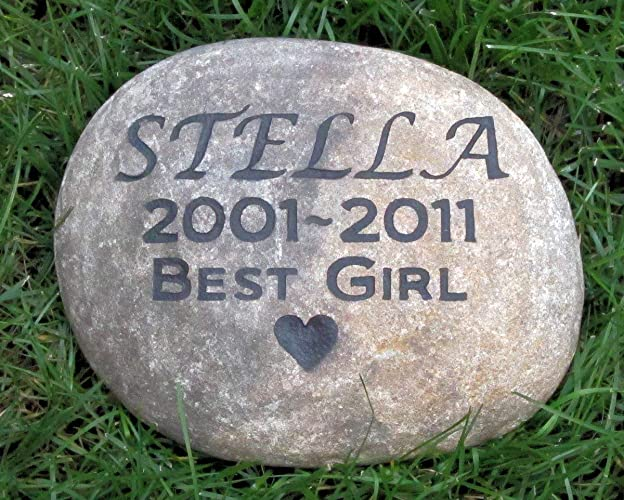 Amazon com: Personalized Pet Memorials, Pet Memorial Stones