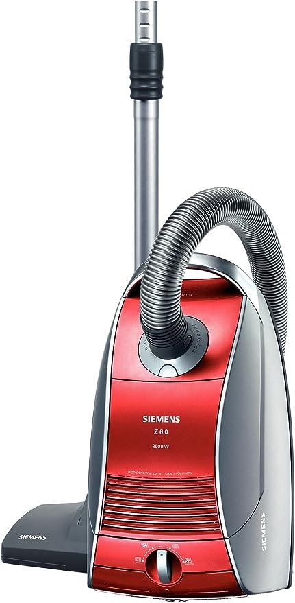 Siemens VSZ62512, 2500 W, Ultra Air II, 4.5 L, Rojo, 78 Db, 238 x 307 x 503 mm - Aspirador: Amazon.es: Hogar