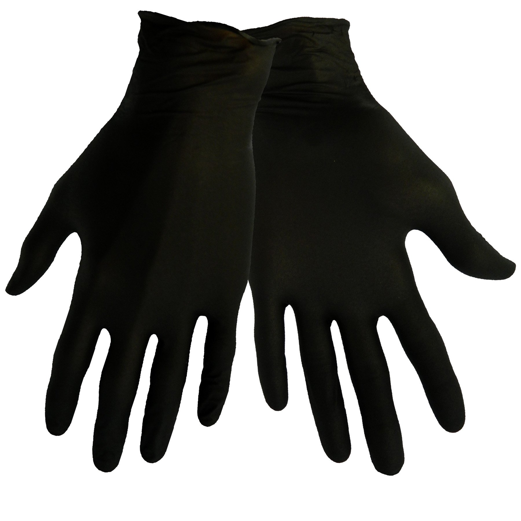 Global Glove 705BPF Nitrile Glove, Disposable, Powder Free, 5 mils Thick, Small, Black (Case of 500) by Global Glove