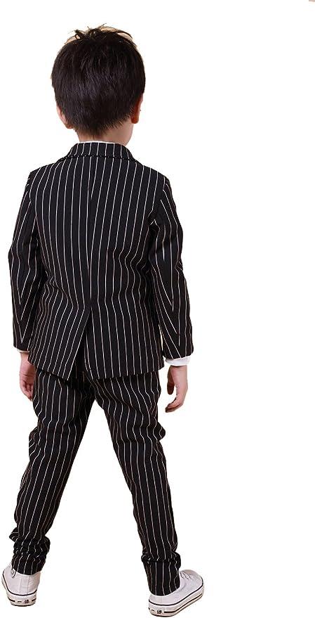 5 Pcs Children Toddler /& Boy Grid Formal Tuxedo Wedding Party Suit Black Sz 3-8