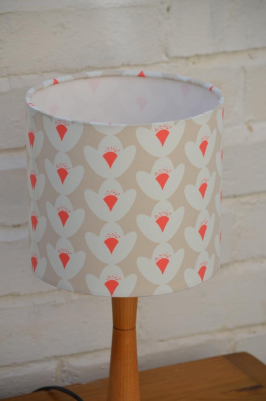 Handmade Cream, white and red flower lampshade