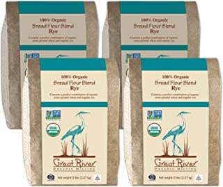 product image for Great River Organic Milling, Bread Flour Blend, Rye Blend, Stone Ground, Organic, 5-Pounds (Pack of 4)