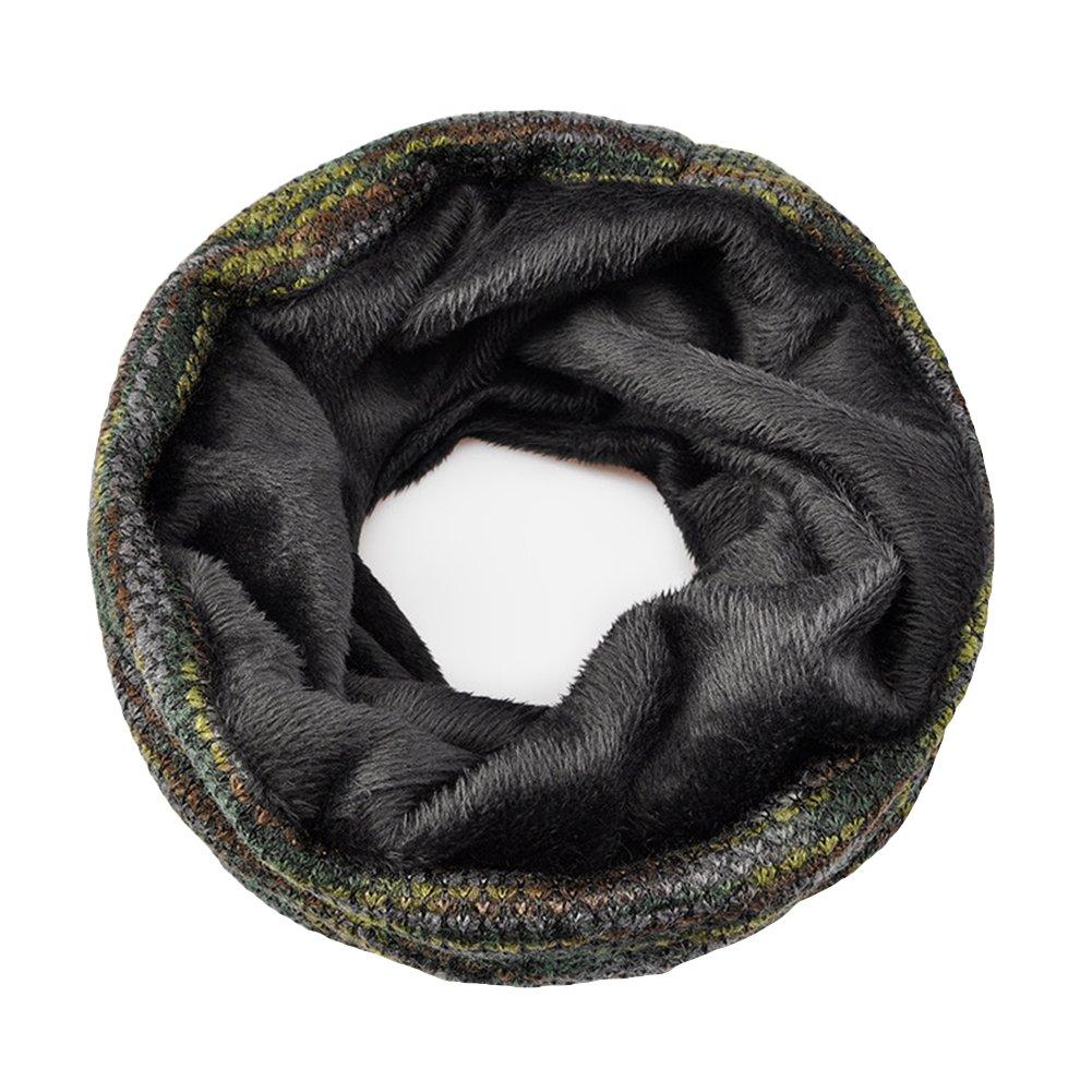 Infgreate Stylish Warm Hat Women Men Fashion Winter Beanies Collar Scarf Hip Hop Hats with Velvet Inside