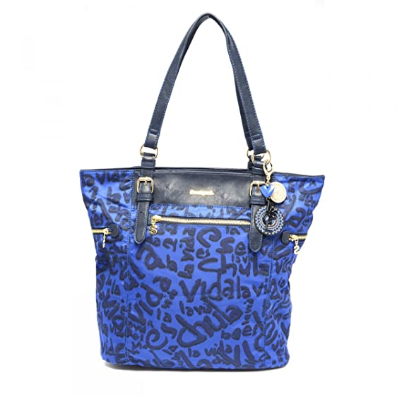 VIDA Foldaway Tote - Blue Ladies by VIDA FlB9bWjrM