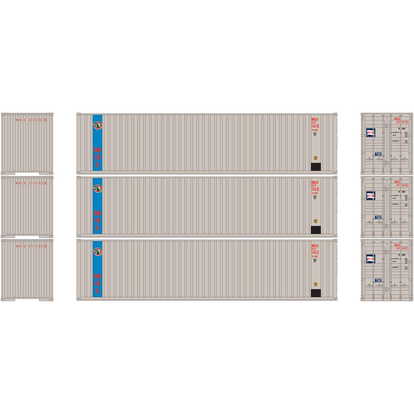 激安特価 HO RTR 40フィート 40フィート RTR HO コルゲートコンテナ フラットパネルMOL(3) B0768GF72R, 気仙郡:50cc8064 --- a0267596.xsph.ru